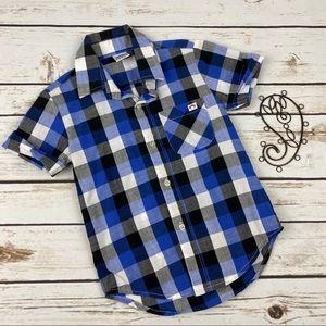 Appaman Button Up Shirt Boys Size 4t Buffalo Plaid